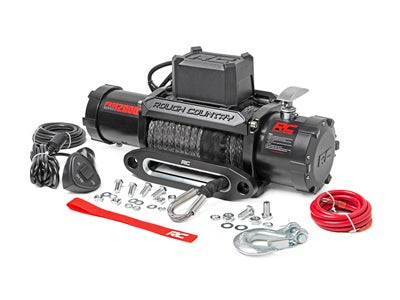 Rough Country Pro Series Electric Winch with Synthetic Rope and Remote - 12,000 lbs. RCPRO12000S