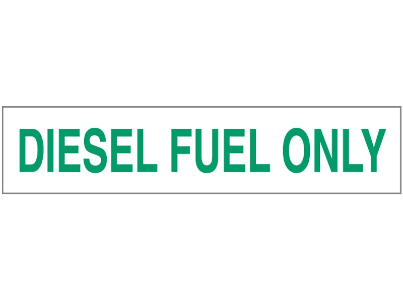 Diesel Fuel Only decal, D607