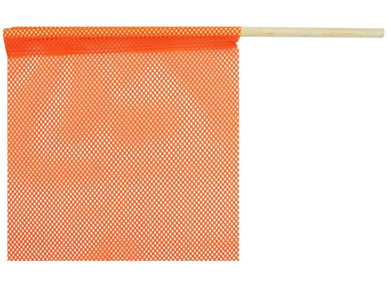 Staff Safety Flag | Flo-Orange | 18 x 18 Inch | Jersey
