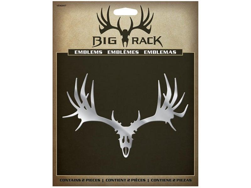 Big Rack Mule Deer Skull Emblem VEM2007