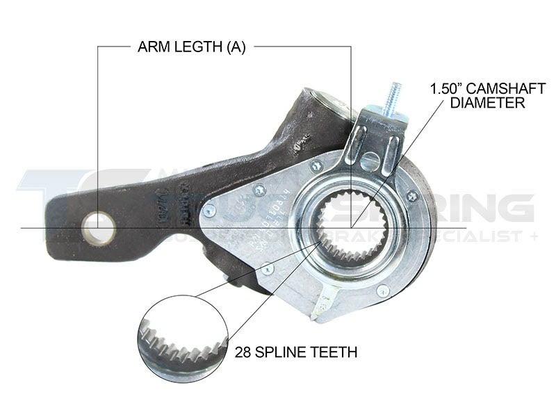 Slack Adjuster 1 5 Inch - 28 Spline, 5 5 Inch Span