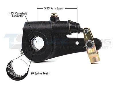 Slack Adjuster 1.5 Inch - 28 Spline, 5.5 Inch Span R801073I