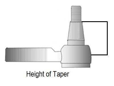 Tie Rod Taper Height