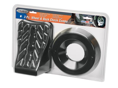 Tire Chock and Tongue Jack Caster and Wheel Dock Combo 63450