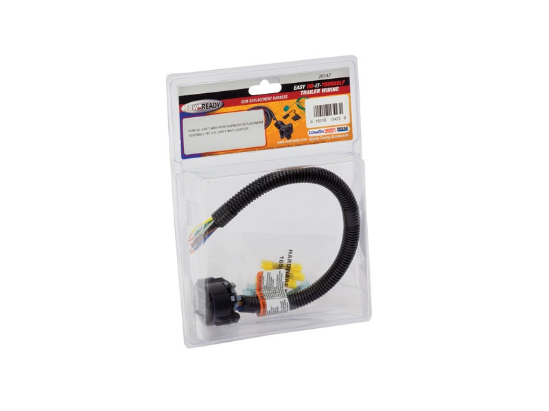 20147, uscar 7 way replacement harness 4- way trailer wiring 7 way uscar replacement harness 20147