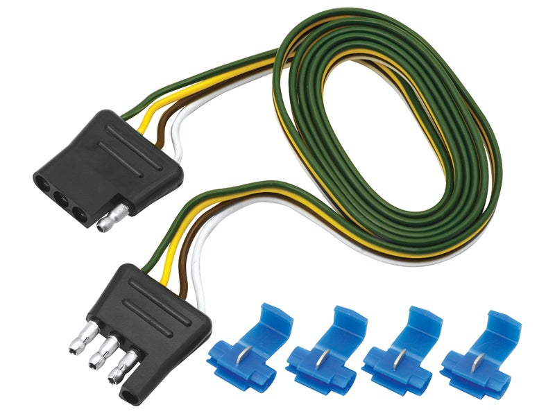 4-Way Flat Harness Loop - Car & Trailer End, 118044 on wire leads, wire antenna, wire connector, wire cap, wire holder, wire nut, wire sleeve, wire lamp, wire ball, wire clothing,