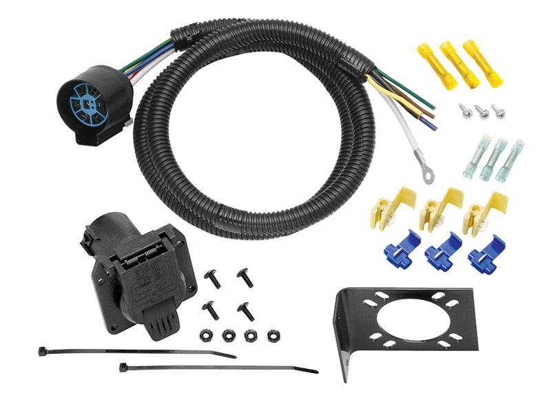 tow ready 7 way trailer wiring harness u s car connector, 20224 seven-round trailer wiring 7 way trailer wiring uscar style #3