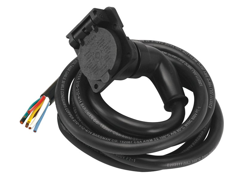 7-Way 90 Degree Molded Trailer Cord, 51-97-407