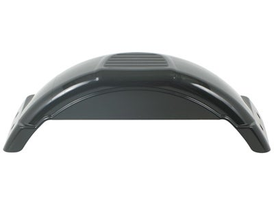 Fulton Plastic Trailer Fender - Top Step, Black 008551