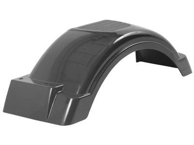 Fulton Plastic Trailer Fender - Top Step, Black 008559