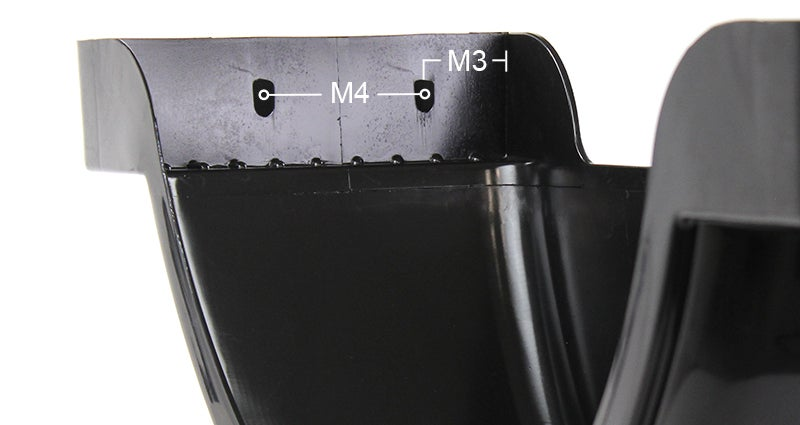 M3 and M4 Dimensions