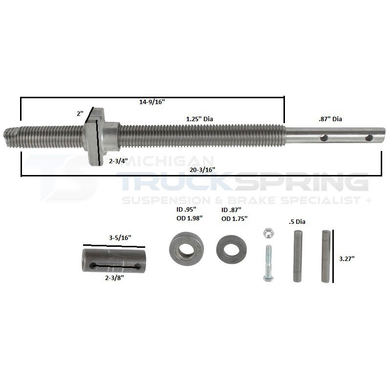 bulldog screw and nut assembly  500250