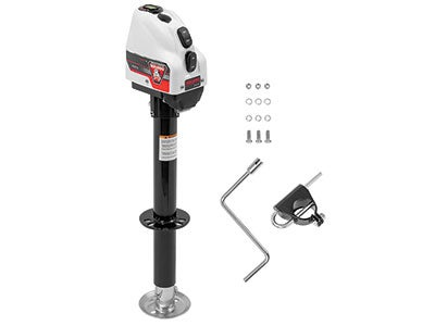 Bulldog A-Frame Electric Trailer Jack, 4,000 lbs. Capacity-White 500200
