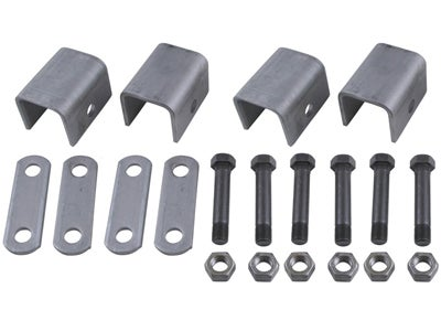 Single Axle Trailer Hanger Kit for Double-Eye Springs - 1-1/2 inch Front Height, 1-1/4 inch Rear Height APS2