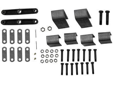 Tandem Axle Trailer Hanger Kit for Double-Eye Springs - 2-1/2 inch Front Height, 2-1/2 inch Rear Height, 5-7/16 inch Center Height APT1