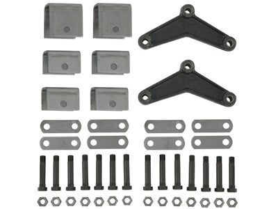 Tandem Axle Trailer Hanger Kit for Double-Eye Springs - 1-1/2 inch Front Height, 1-1/2 inch Rear Height, 2-1/2 inch Center Height APT3