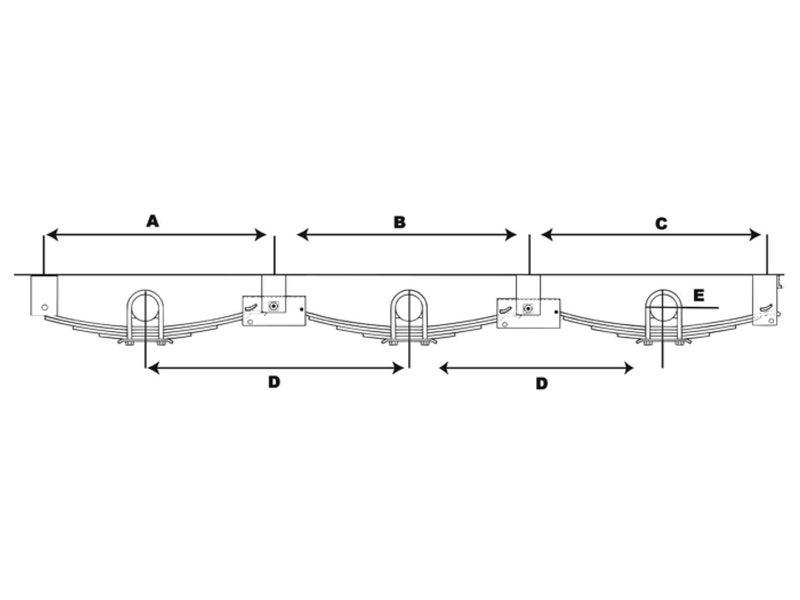 triple axle dia lrg 01 aptt5, triple axle trailer hanger kit for double eye springs