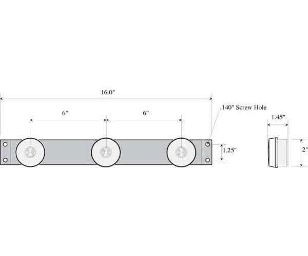 Identification Bar Lights for Commercial Trucks