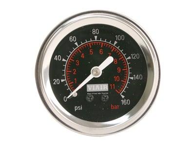 Viair Single Needle Gauge - Black, 2 Inch VA90088