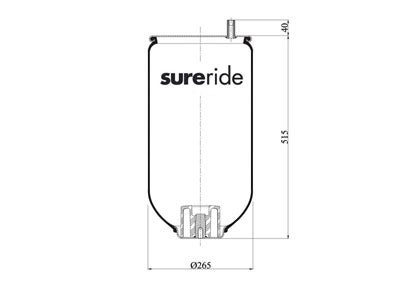 Sureride Reversible Sleeve Air Spring 9580  RML79580 besides  on firestone reversible sleeve air spring w01 358 9580