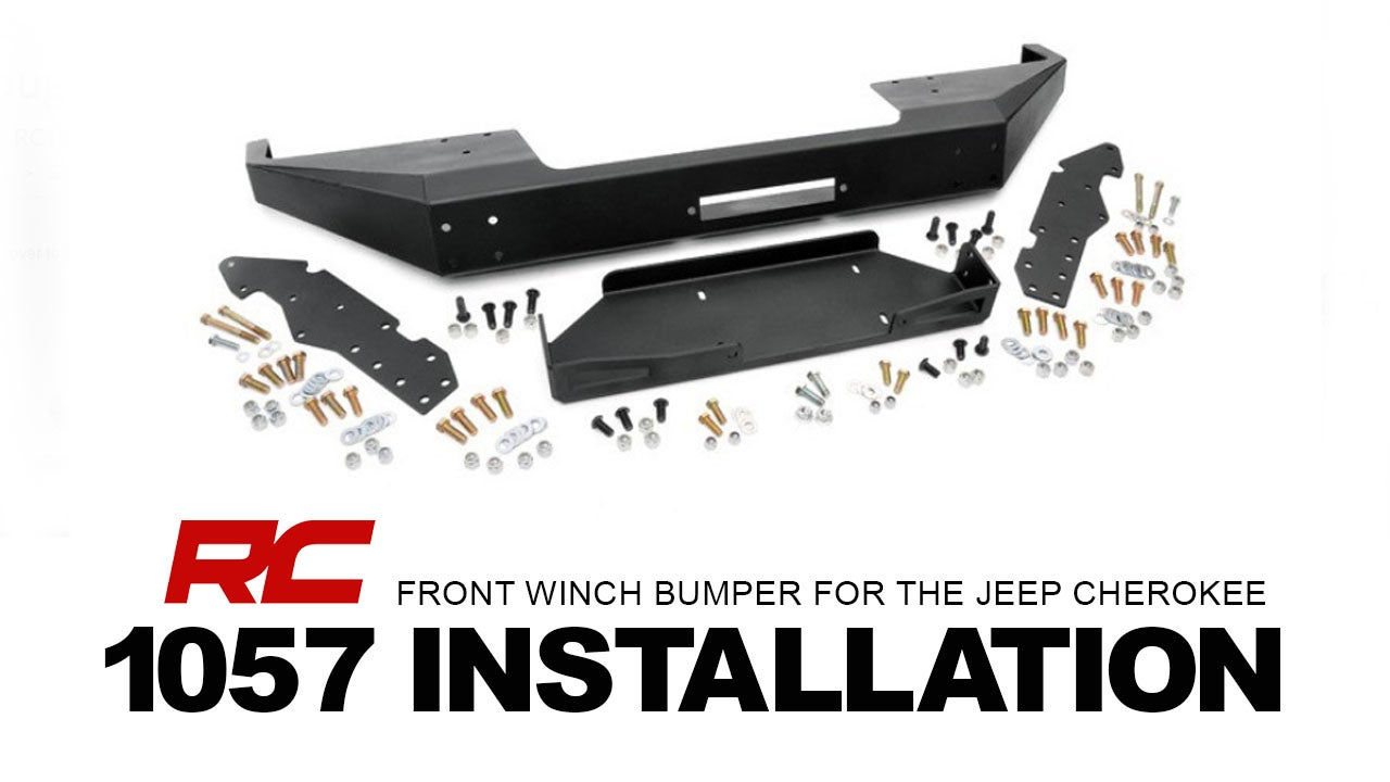 1012 Rough Country Stubby Front Winch Bumper For The Jeep Wrangler Installing A