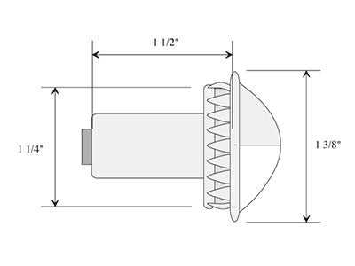 Chrome License Plate Lamp - VSM430W