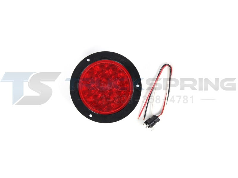 Stop Lamp Led : inch Red 10 Diode Round Sealed LED Stop / Tail / Turn Lamp Kit with ...