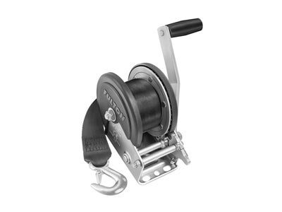 Fulton Single Speed Trailer Winch with Strap and Cover - 1,500 lbs. Capacity FW142208