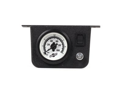 Air Lift Single Needle Gauge with Lighted Panel AIL26156