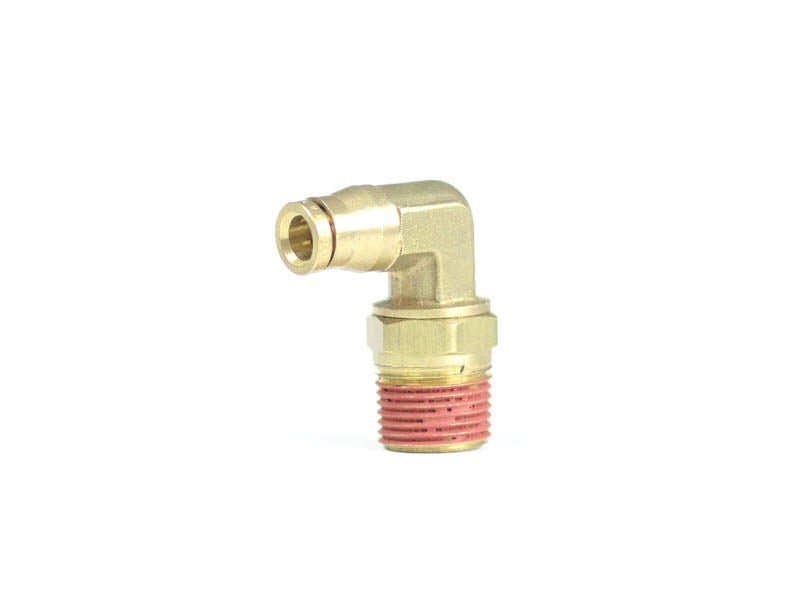 Male 90 Degree Elbow Swivel Air Fitting for 1/4 inch tubing, 3/8 NPT