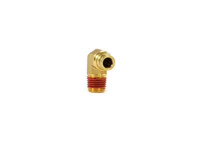 Firestone Male 90 Degree Elbow Air Fitting | 1/4 Inch Tubing, 1/4 NPT