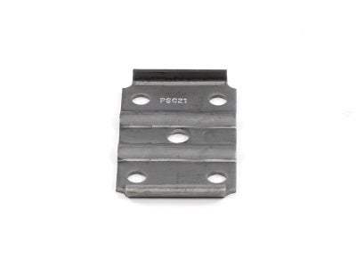 Tie Plate - Plain Finish, 1-3/4 Inch Wide Spring, 3 Inch Round Axle, 1/2 Inch U-Bolt 12-1