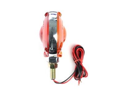 Round Front Turn Signal Lamp - Red & Amber - Chrome - Mack 47M0251P2
