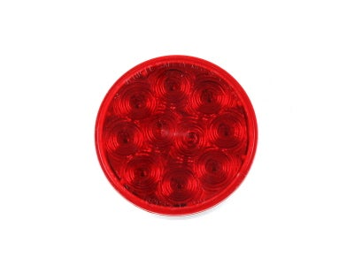"Red 10 Diode 4"" Round Sealed LED Stop / Tail / Turn Lamps - 44 Series"