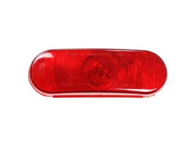 """6.53"""" Red Oval Combination Stop / Tail / Turn Signal Incandescent Lamp"""