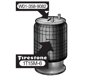 Firestone Air Bag Part Number on Top Plate